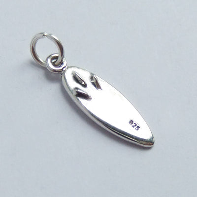 Sterling Silver Surf Board Charm