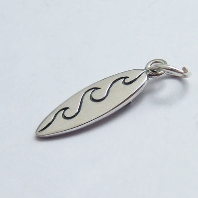 Sterling Silver Surfboard Charm