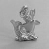 Sterling silver Neptune God of the sea charm