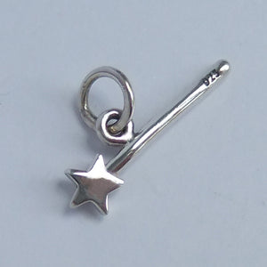 Sterling Silver Magic Star Wand Charm