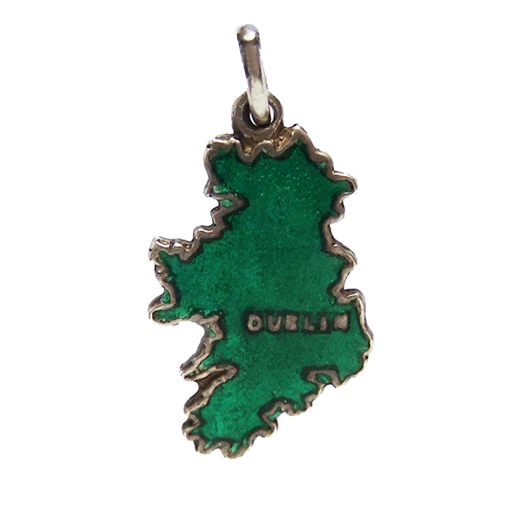 Thomas L Mott Ireland Map Charm Sterling Silver - Silver Star Charms