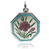 Thomas L Mott Flower Month October Carnation Sterling Silver Enamel TLM
