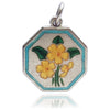 Thomas L Mott Flower Month February Primrose Sterling Silver Enamel TLM