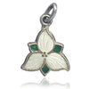 Trillium Flower Charm by BMCo Sterling Silver Enamel