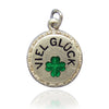Antique German Good Luck Viel Glück four leaf clover charm