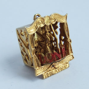 Vintage 9ct Yellow Gold London Palladium Theatre Charm