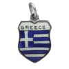 Vintage Silver Enamel Greece Travel Shield Charm