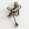 Moving sterling silver circus monkey charm