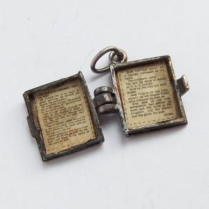 Vintage Nuvo Opening Bible Lord's Prayer Sterling Silver Charm
