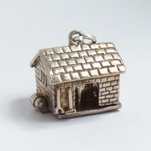 Vintage Nuvo Opening Cattle Shed Sterling Silver Charm