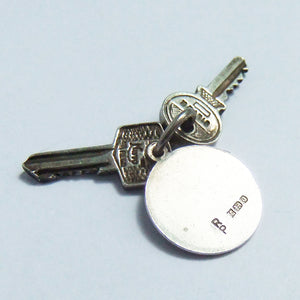 Vintage Silver Nuvo Car Keys and Saint Christopher Charm