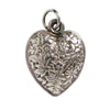 Vintage Silver Heart with Flowers Charm