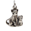 Vintage Cat and Kitten Charm by Jezlaine