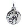 Vintage Silver Tom Cat 9 Lives Charm
