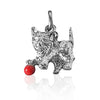 Vintage Wells Kitten and Red Ball Cat Charm