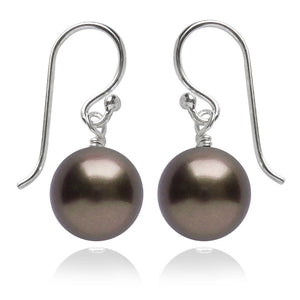 Brown Swarovski Crystal Pearl Earrings | Amanda Jo