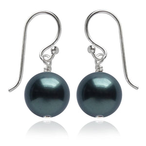 Tahitian Swarovski Crystal Pearl Earrings | Amanda Jo