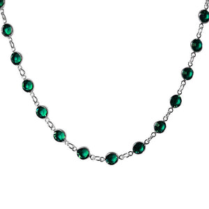 Jewelled Chain Necklace with Swarovski Crystal 11 Colours