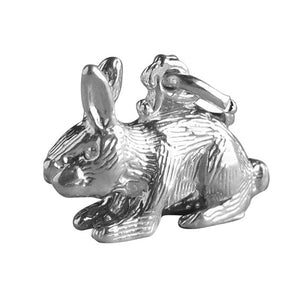 Rabbit charm sterling silver 925 or gold pendant