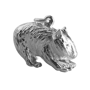 Australian Wombat Charm Sterling Silver or Gold Pendant | Silver Star Charms