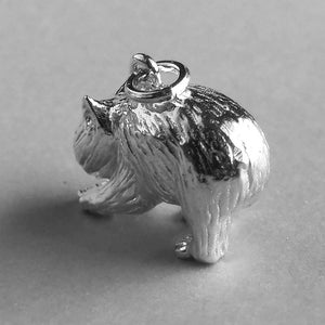 Australian Wombat Charm Sterling Silver or Gold Marsupial | Silver Star Charms