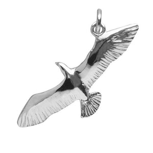 Seagull charm pendant sterling silver 925 or gold