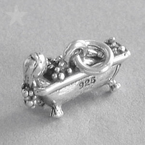 Lady in Bubble Bath Charm Sterling Silver Pendant | Charmarama