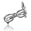 Reading glasses charm 925 sterling silveror gold pendant