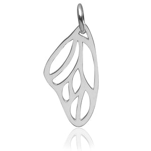 Butterfly Wing Charm Sterling Silver Insect Pendant | Charmarama