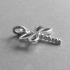 Dragonfly charm sterling silver or gold insect pendant