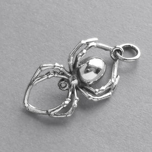 Spider Charm Sterling Silver Bug Pendant | Silver Star Charms