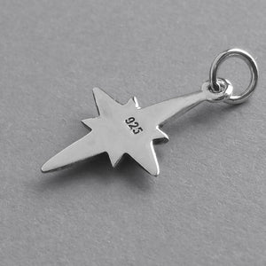North Star Charm Sterling Silver Pendant | Charmarama