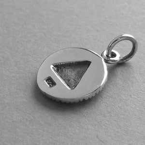 All Seeing Eye Charm Sterling Silver Pendant