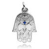 Hamsa hand amulet charm sterling silver 925 or gold pendant