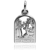 Saint Francis of Assisi charm 925 sterling silveror gold pendant