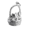 Two Kittens in a Basket Charm Sterling Silver or Gold | Silver Star Charms
