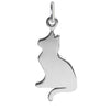 Cat Silhouette Charm Sterling Silver | Silver Star Charms