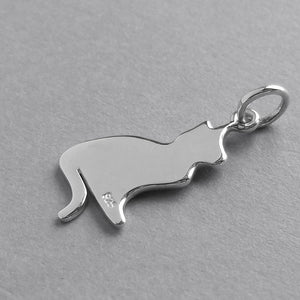 Cat Silhouette Charm