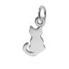 Tiny Cat Silhouette Charm Sterling Silver | Silver Star Charms