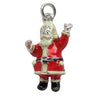 Sterling Silver and Red Enamel Santa Claus Charm | Silver Star Charms
