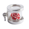 Red Rose Corsage Flower Box Charm | Silver Star Charms