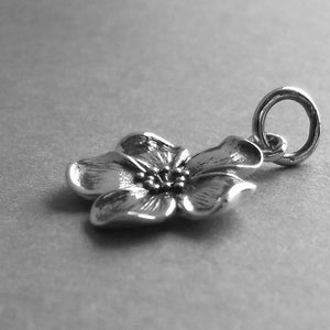 Blossom Charm Sterling Silver Flower Pendant | Silver Star Charms