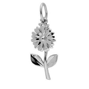 Daisy flower charm sterling silver 925 or gold pendant