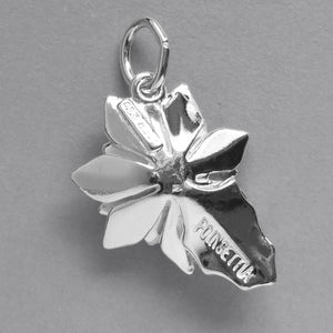 Sterling Silver Poinsettia Charm