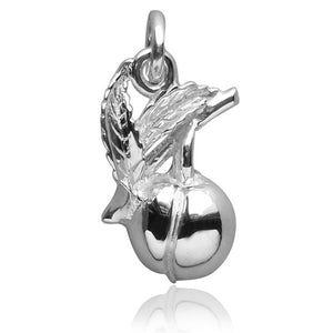 Peach charm 925 sterling silver or gold fruit pendant