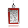 Queen of Hearts charm sterling silver 925 or gold pendant