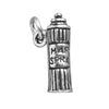 Hairspray Charm Sterling Silver Salon Pendant