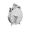 Alarm clock charm sterling silver 925 or gold pendant