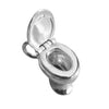 Leave the seat down toilet charm sterling silver gold loo pendant