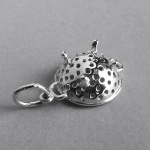Seive food strainer charm sterling silver 925 or gold pendant